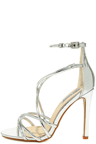 Jeanne Silver Dress Sandals