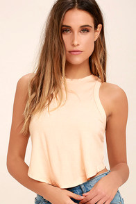 Gimme More Light Peach Crop Top