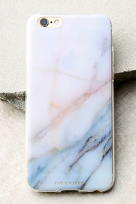 The Casery Neutral Marble White and Blue iPhone 6 and 6s Case