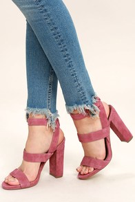 Steve Madden Canaan Mauve Suede Leather Heels