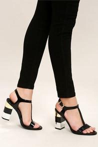 Eloise Black High Heel Sandals