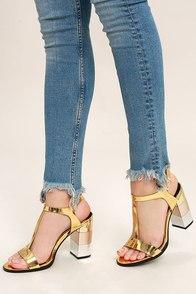 Eloise Gold High Heel Sandals