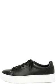 Madden Girl Kitten Black Flatform Sneakers