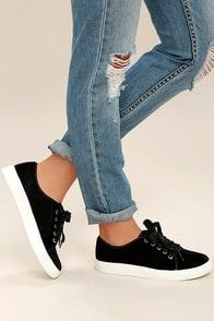 Dirty Laundry Fillmore Black Velvet Sneakers