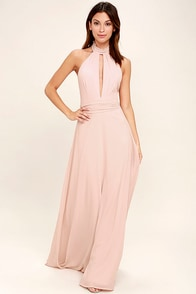 First Comes Love Blush Pink Maxi Dress