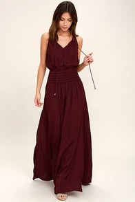 Star Sisters Burgundy Maxi Dress