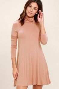 Sway, Girl, Sway! Blush Pink Swing Dress