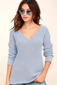 BB Dakota Barlow Light Blue Sweater