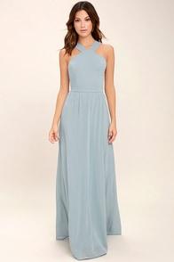 Air of Romance Light Blue Maxi Dress