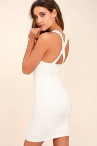Play Time White Bodycon Dress