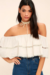 cute white crochet top sheer lace crop top long sleeve