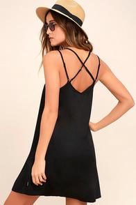 RVCA Naveena Black Shift Dress