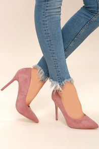 Shyla Rose Suede Pointed Pumps