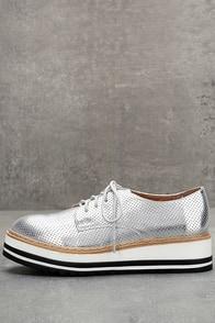 Steve Madden Vassar Silver Platform Sneakers