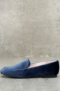 Chinese Laundry Gabby Blue Velvet Loafers