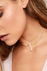Tranloev Crystal Countessa Gold Choker Necklace