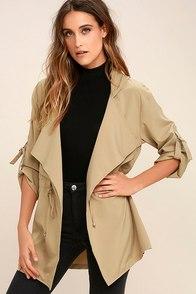 Dakota Khaki Hooded Jacket