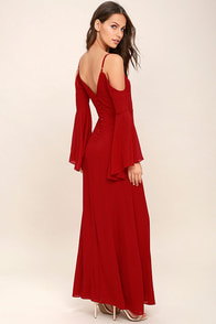 Glamorous Greeting Red Maxi Dress