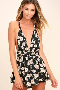 Elated Energy Pink Floral Print Convertible Romper