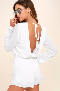 Greatest Hits White Backless Romper