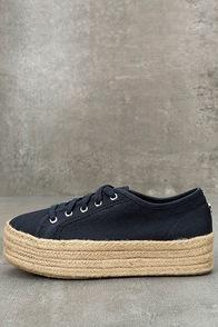 Steve Madden Hampton Navy Blue Flatform Espadrille Sneakers