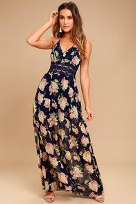 Pretty Print Dress - Maxi Dress - Multicolored Dress - $46.00