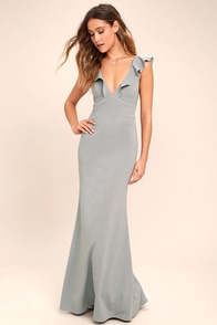 Perfect Opportunity Grey Maxi Dress