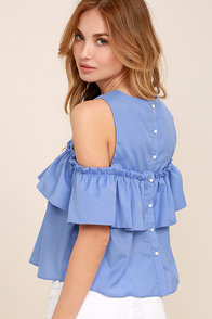 Such a Doll Periwinkle Blue Top