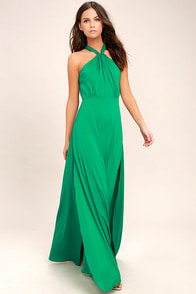 Ever After Green Maxi Dress