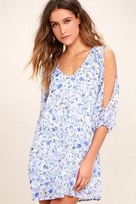 Lovely Floral Print Dress Ots Dress Shift Dress