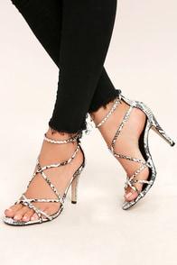 Annora Snake Print Dress Sandals