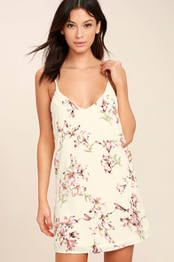 Beachcomber Cream Floral Print Shift Dress
