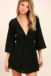 Easy on the Eyelets Black Lace Cover-Up