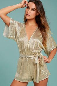 Dazzling Diva Gold Romper