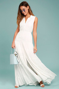 Cloud Rider White Maxi Dress