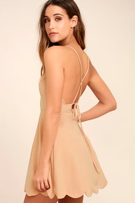 Play On Curves Blush Backless Dress