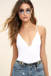 Free People Move Along White Bodysuit