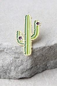 Zero Gravity Cactus Green Pin