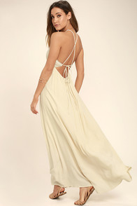 Beautiful Moment Light Beige Lace Maxi Dress at Lulus.com!
