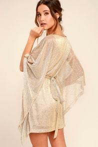 Ladies' Night Gold Kaftan Dress