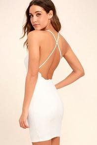 Heart's Content White Bodycon Dress