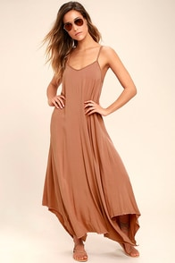 Others Follow Kiara Rusty Rose Maxi Dress at Lulus.com!