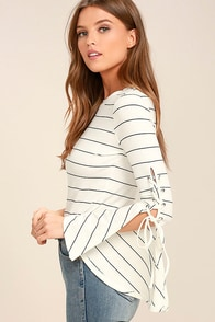 cute red and white top striped top offtheshoulder