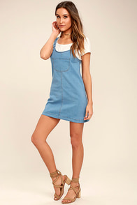 Hopscotch Champion Blue Denim Pinafore Dress