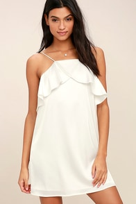 Spice Twirl White Satin Dress at Lulus.com!