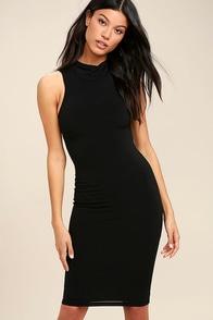 Rock Your Body Right Black Bodycon Midi Dress