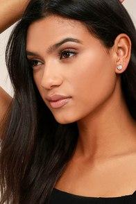 Having a Ball Rose Gold Rhinestone Earrings