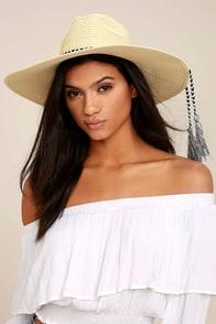 New Me Beige Floppy Straw Hat