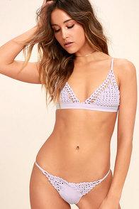 Frankies Bikinis Stella Lavender Crochet Bikini Bottom