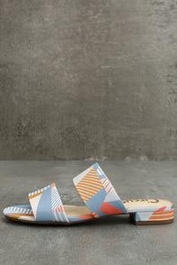 Circus by Sam Edelman Delaney Peach Multi Slide Sandals